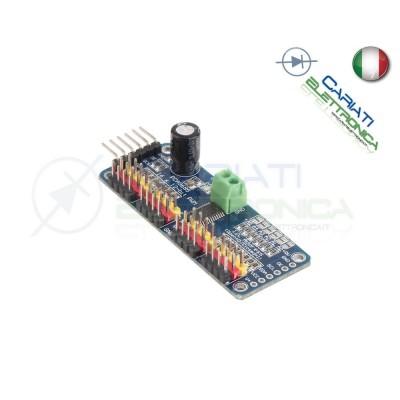 PWM Servo Drive shield Modulo I2C PCA9685 16 Canali 12-bit per Arduino