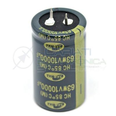 Condensatore elettrolitico 10000 uF 63V 85°C 30x50 mm snap in Samwha 10000uFSamwha