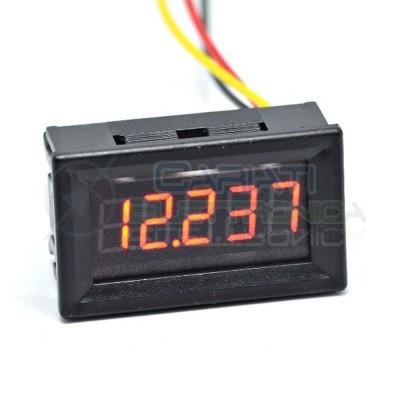 Display Voltometro ROSSO 5 CIFRE DECIMALI 0-99.999 Vdc da pannello alta precisione