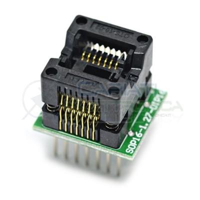 Adattatore Basetta Test PCB Programmazione SOP16 a DIP16 150mils Generico