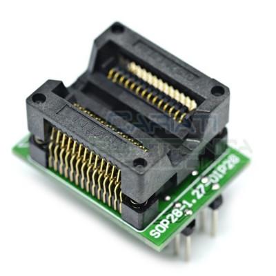 Adattatore Basetta Test PCB Programmazione SOP28 a DIP28