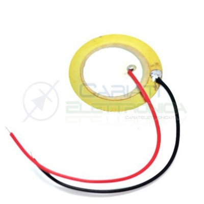 2pcs Transducer piezo 27mm piezoelettric with cableCariati Elettronica