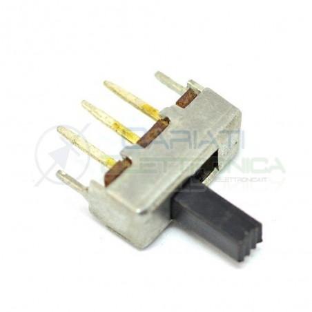 2 PEZZI Interruttore Deviatore a Slitta Slide 3 pin con altezza leva 7mm