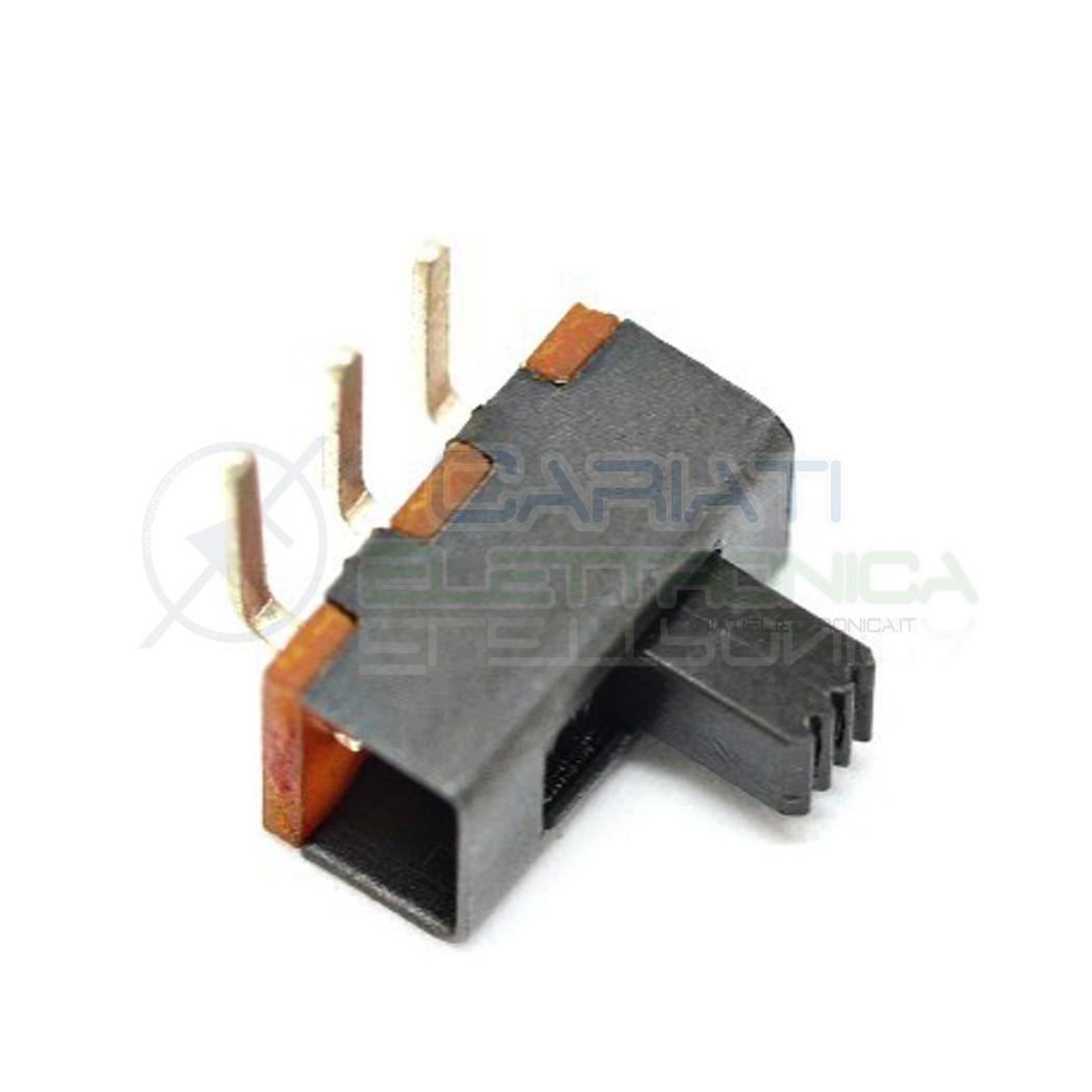 2 PEZZI Interruttore Deviatore a Slitta Slide 3 pin 90 gradi con altezza leva 4mm 1,00 €