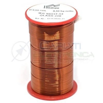 Rotolo filo Cavo bobina di rame singolarmente smaltato per avvolgimenti da 0,6mm 0,5KgGenerico