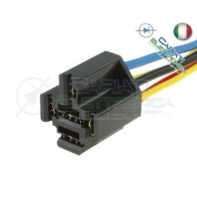 100 PEZZI Zoccolo per relè relay 5 pin 40A Auto Camper lunghezza cavi 20cm