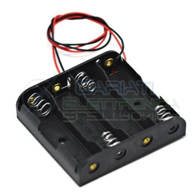 4 x AA LR06 Holder Battery with cableCariati Elettronica