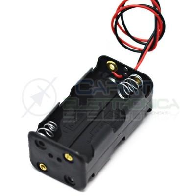 1 PEZZO Porta Batteria PortaBatterie Per 4 Pile AA con Cavi