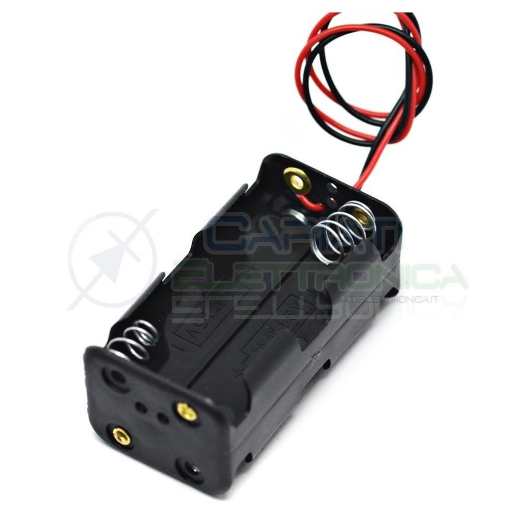 1 PEZZO Porta Batteria PortaBatterie Per 4 Pile AA con Cavi  1,00€