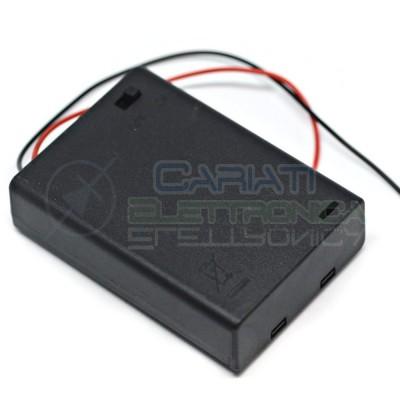 1 PEZZO Porta Batteria PortaBatteria Per 3 Pile AA con Interruttore e Cavi 1,20 €