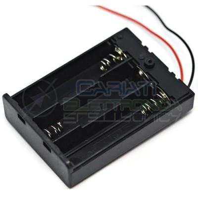 1 PEZZO Porta Batteria PortaBatteria Per 3 Pile AA con Interruttore e Cavi  1,20€