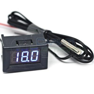 MINI TERMOMETRO DIGITALE da PANNELLO LED BLU -20 a +100℃ NTC DC auto camper