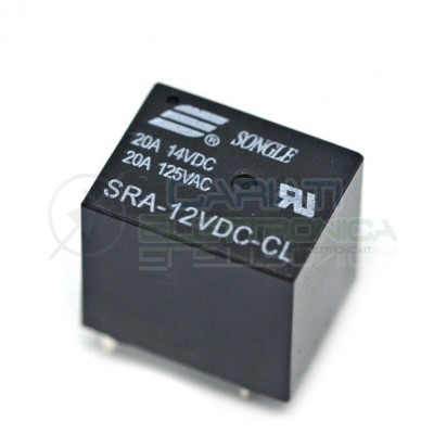 Relè Relay SONGLE SRA-12VDC-CL con bobina da 12Vdc 20A 14Vdc 125Vac SPDT Songle