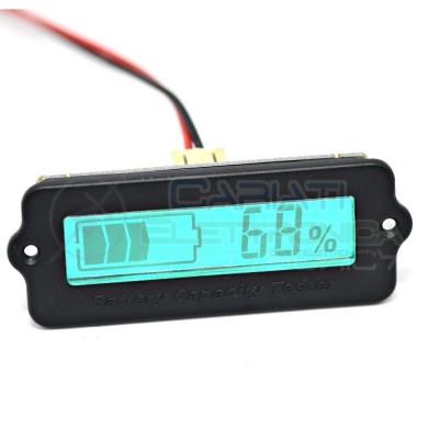 Indicatore di carica voltometro 24V Display led per batterie al piombo 24V Generico