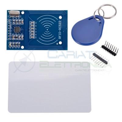 Lettore RFID mifare RC522 reader con portachiavi e card transponder arduino pic