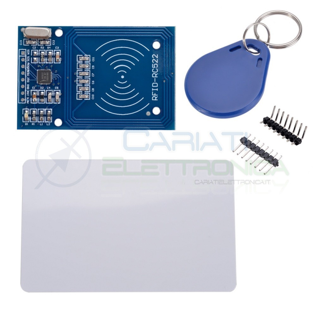 Lettore RFID mifare RC522 reader con portachiavi e card transponder arduino pic  4,69€