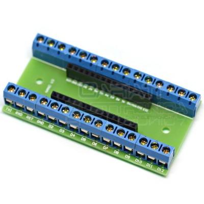 Scheda Pinout Arduino Nano V3 con morsetti a vite Adattatore morsettiera cavi Generico