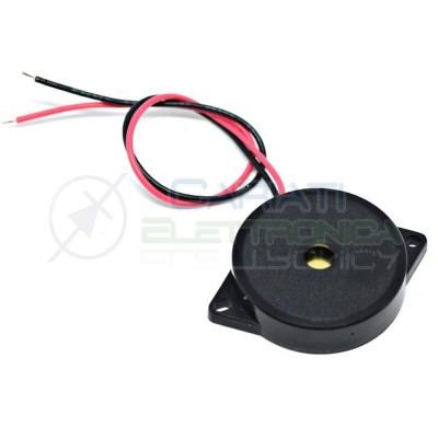 1 Pezzo Trasduttore piezoelettrico 1,1Khz 3mA 1-30V AC altezza 9mm 85dB