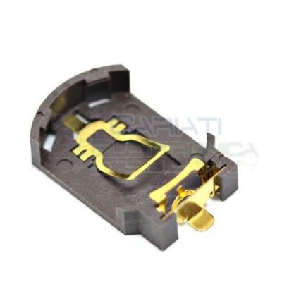 Portabatterie SMD Piatto per Batteria a Bottone CR2032 CR 2032