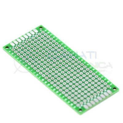 Basetta millefori 70x30mm Doppia Faccia Passo 1,54mm Breadboard Cariati Elettronica