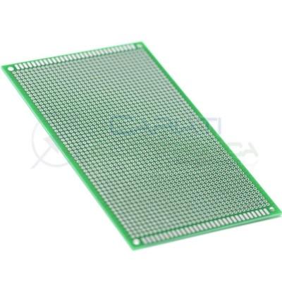 Basetta millefori 150x90mm Doppia Faccia Passo 1,54mm Breadboard Cariati Elettronica