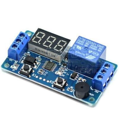 Scheda modulo relè temporizzatore timer 12V con display 0.99 - 999 secondi
