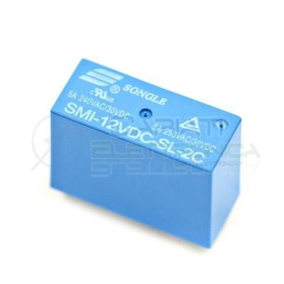 Relè Songle SMI-12VDC-SL-2C con bobina da 12Vdc 5A 30Vdc 5A 250Vac DPDT  1,75€
