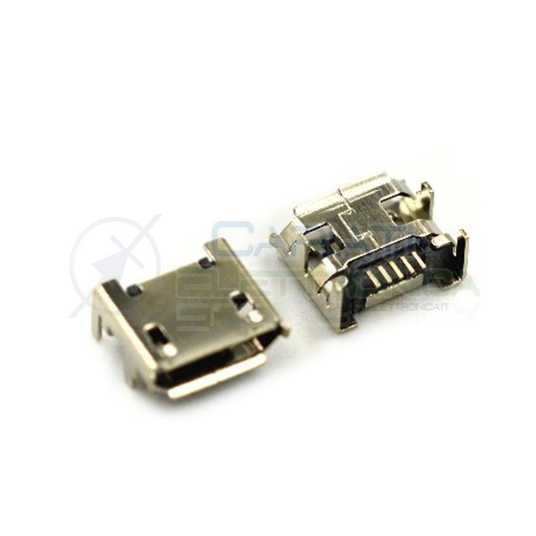 2 Pezzi Connettore Presa Micro USB B 5 pin  1,00€