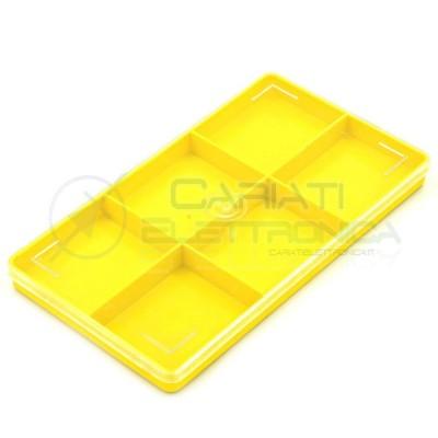 VALIGETTA ORGANIZER CONTENITORE 6 SCOMPARTIMENTI IN PLASTICA 200x110x15 mm