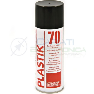 Spray PLASTIK 70 400ml vernice incolore rivestimento per circuiti stampati