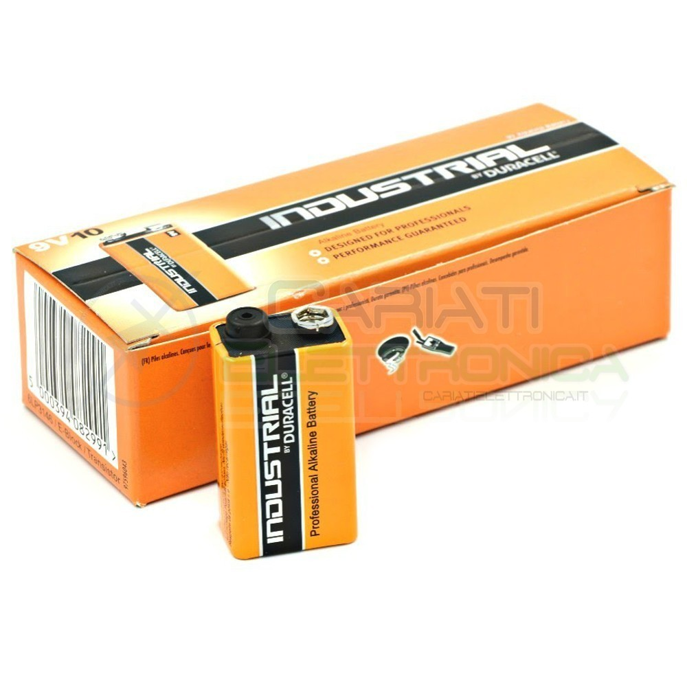 10 BATTERIE PILE DURACELL INDUSTRIAL PLUS MN1604 9V Duracell