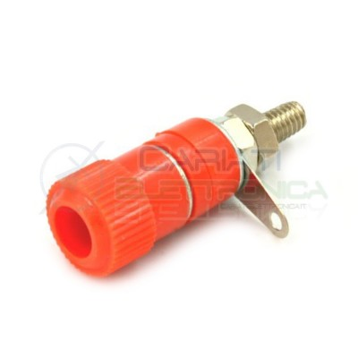 BOCCOLA BANANA SPINA DA PANNELLO ROSSA 4mm  1,00 €