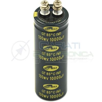 Condensatore Elelettrolitico 10000uF 100V 35x100/12,7 85° GT SAMWHA  11,49€