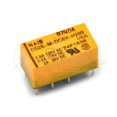 Relè Doppio Scambio DS2E-M-DC5V-H299 5VDC 5V DPDT 2A 30VDC DPDT HONGFA RELAY 2,49€