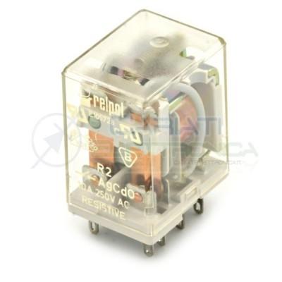 Rele R2 RELPOL 230Vac 12A 2 scambi DPDP R2-1012-23-5230