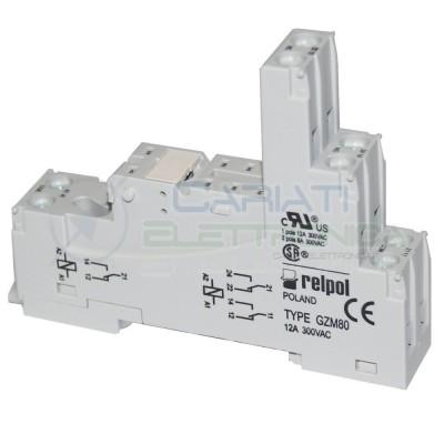 Portarelè Zoccolo DIN RELPOL 300V 12A per Relè 8 pin Pcb porta Relay Relpol