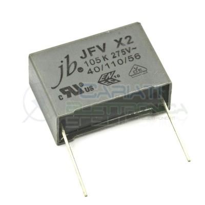 Condensatore poliestere MPB X2 1uF 1 uF 275Vac 27.5mm JVF X2 105K  1,00€