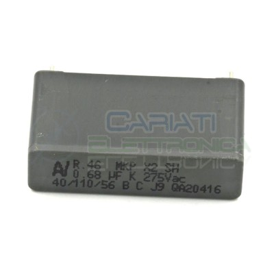 Condensatore polipropilene 680nF 0.68uF 275Vac X2 Passo 27.5mm 10% R46