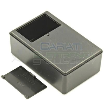 Contenitore custodia 109x70x40 mm con vano pila AA AAA o 9V in ABS nero  3,59€
