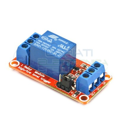 Scheda Relè 12V Dc 10A Singolo 1 Scambio Songle SRD-12VDC-SL-C SPDT PCB Songle