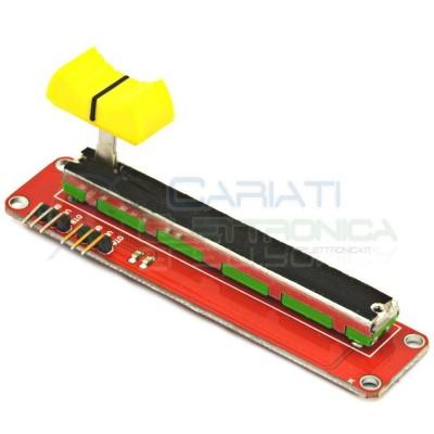 Scheda Potenziometro a slitta 10K stereo lineare 75mm B10k 10kohm con manopola Cosocomi