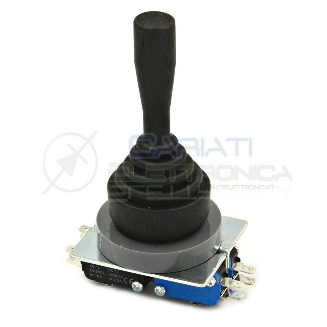 Joystick manopola da pannello industriale 4PDT 220V 6A 4 POSIZIONI