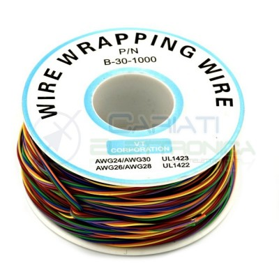 Cable wire wrapping 8 Colors Awg30 250 meters console modding wrap MulticolorGenerico