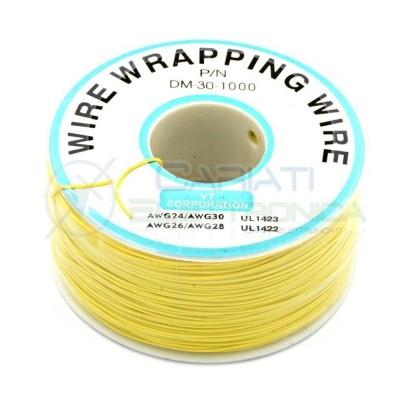 Cavo filo wire wrapping AWG30 305 metri console modding wrap colore Giallo