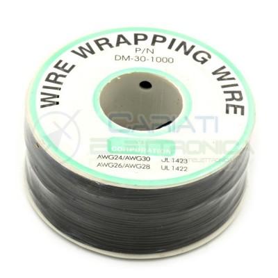 Cavo filo wire wrapping AWG30 305 metri console modding wrap colore NERO  11,00€