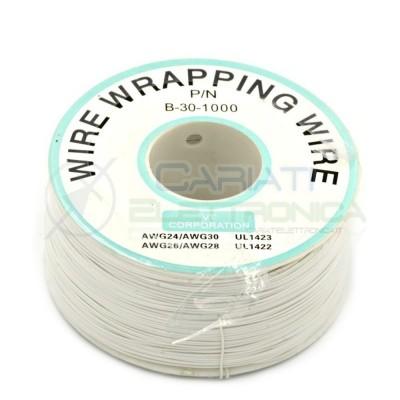 Cavo filo wire wrapping AWG30 305 metri console modding wrap colore BIANCO