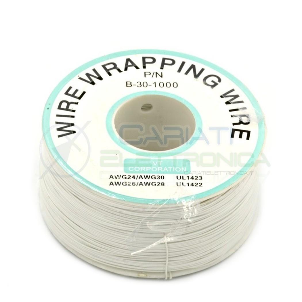 Cavo filo wire wrapping AWG30 305 metri console modding wrap colore BIANCO  11,00€