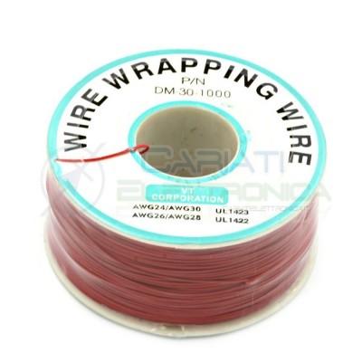 Cavo filo wire wrapping AWG30 305 metri console modding wrap colore ROSSO  10,99€