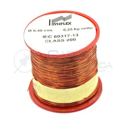 Rotolo filo Cavo bobina di rame doppiamente smaltato per avvolgimenti da 0,4mm 0,25Kg