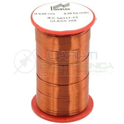 Rotolo filo Cavo bobina di rame singolarmente smaltato per avvolgimenti da 0,6mm 0,5Kg